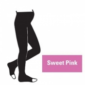 Juzo Attractive 18-21mmHg Sweet Pink Maternity Compression Tights with Open Toe