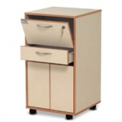 Bristol Maid Laminate Bedside Cabinet with High Capacity Drawers