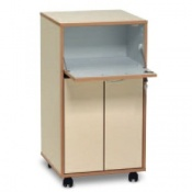 Bristol Maid Laminate Bedside Cabinet with Standard Capacity Drawers