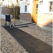 Rollout-Trackway Wheelchair and Pedestrian Pathway