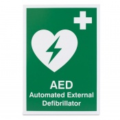'AED Automated External Defibrillator' Safety Sign