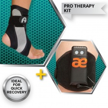 Aircast A60 Ankle Brace with Arc4Health MicroCurrent Therapy Kit