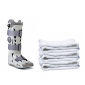 Aircast AirSelect Elite Walker Boot and Replacement Socks (Pack of 3 Socks)