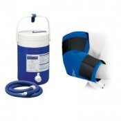 Donjoy Arcticflow Elbow Wrap and Cold Therapy Gravity Cooler Unit
