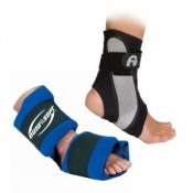 Aircast A60 Ankle Support and Dura Soft Foot and Ankle Ice Pack Wrap Saver Pack
