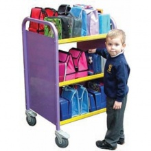 Aluminium Double Sided 30 Lunch Box Storage & Transportation Trolley