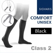Sigvaris Unisex Comfort Calf Class 2 (RAL) Black Compression Stockings