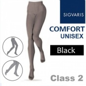 Sigvaris Unisex Comfort Class 2 (RAL) Black Compression Tights