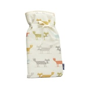 Blue Badge Company Large Hot Water Bottle with a Fox-Patterned Soft Cover