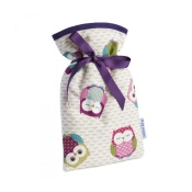 Blue Badge Company Mini Hot Water Bottle with an Owl-Patterned Soft Cover