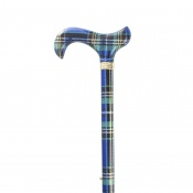 Blue Tartan Derby Walking Cane
