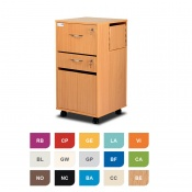 Bristol Maid Two-Tone Bedside Cabinet (Two Drawers and Lockable Flap)