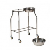 Bristol Maid Stainless Steel Side-by-Side Two Bowl Stand