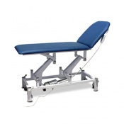 Bristol Maid Electric Two-Section Treatment and Examination Couch with Foot Switch in Bristol Blue