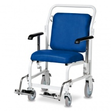 Bristol Maid Front-Steer Portering Chair with Hinged Foot Rests