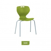 Bristol Maid Mata Chair Olive Four-Leg Waiting Room Seating