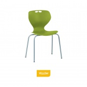 Bristol Maid Mata Chair Yellow Four-Leg Waiting Room Seating