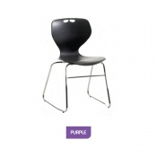 Bristol Maid Mata Chair Purple Sled Base Waiting Room Seating