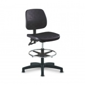 Bristol Maid Medium PU TechnoChairs Medical Chair with Foot Ring and Glides