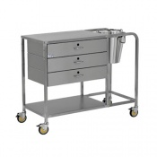 Bristol Maid Plaster Trolley with Three Drawers and Bucket