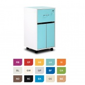 Bristol Maid Two-Tone Bedside Cabinet (Cupboard and Lockable Drawer)
