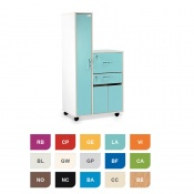 Bristol Maid Two-Tone Bedside Cabinet with Left-Hand Wardrobe (Cupboard, Drawer and Lockable Flap)