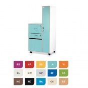Bristol Maid Two-Tone Bedside Cabinet with Right-Hand Wardrobe (Cupboard, Drawer and Lockable Flap)