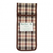 Brown and Cream Check Wallet for the Folding Walking Sticks