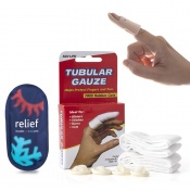 Finger Splint Kit with Splint, Gauze, and Hot and Cold Pack