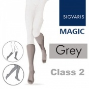 Sigvaris Magic Class 2 Calf Closed Toe Compression Stockings - Grey
