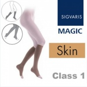 Sigvaris Magic Class 1 Calf Open Toe Compression Stockings - Skin