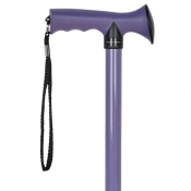 Adjustable Lilac Gel Handle Walking Stick