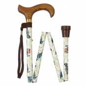 Height-Adjustable Folding Garden Birds Derby Walking Stick