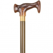 Brown Escort Crutch Handle Wooden Walking Stick