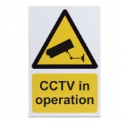 'CCTV in Operation' Warning Sign