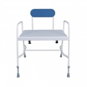 Cefndy Bariatric Adjustable Height Shower Stool with Back Support