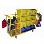 Complete School Sports Equipment Storage Trolley