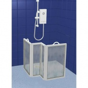 Contour Four Panel Carerscreen Shower Screen