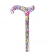 Derby Tea Party Extending Lavender Floral Patterned Cane
