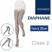 Sigvaris Diaphane Thigh Class 2 Navy Blue Compression Stockings