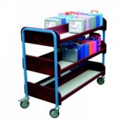 Double Sided 60 Lunch Box Storage & Transportation Trolley