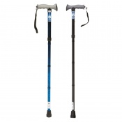 Drive Medical Blue Crackle Folding Walking Stick with Gel Grip Handle