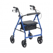 Drive Medical Blue Lightweight Aluminium Rollator with 8'' Wheels