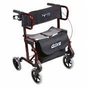 Drive Medical Red Diamond Deluxe Rollator with Leg Rests