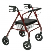 Drive Medical Red Heavy-Duty Rollator
