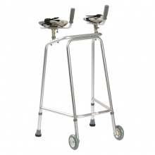 Drive Medical Ultra Narrow Large Walking Frame with Wheels and Forearm Platforms