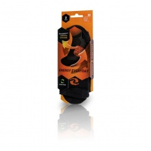 Enertor Black and Orange Energy Everyday Socks (Pack of 2 Pairs)