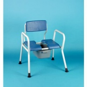 Extra-Wide Bariatric Bedside Commode and Shower Chair