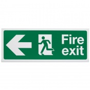'Fire Exit Left' Safety Sign