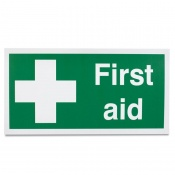 'First Aid White Cross' Safety Sign